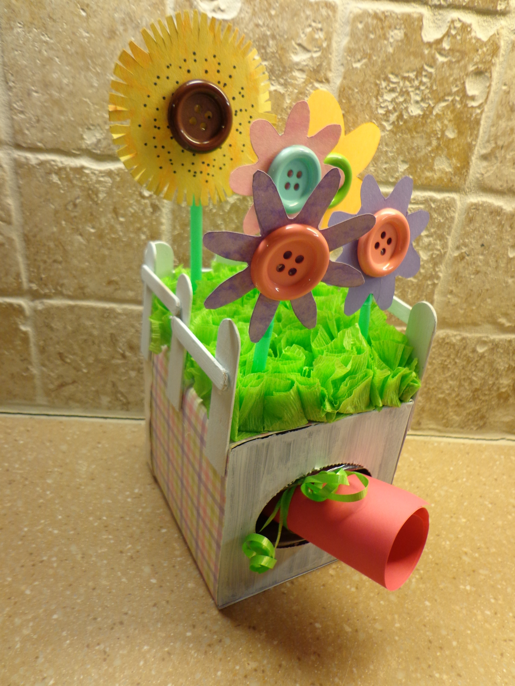 tissue box craft gift garden